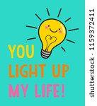 cute light bulb cartoon with... | Shutterstock .eps vector #1159372411