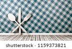 white silverware 3d shape on... | Shutterstock . vector #1159373821