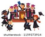graduates celebrate finishing... | Shutterstock .eps vector #1159373914