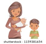 sibling relationship. attention ... | Shutterstock .eps vector #1159381654