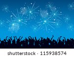 vector background of a new year ... | Shutterstock .eps vector #115938574