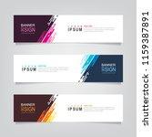 vector abstract web banner...   Shutterstock .eps vector #1159387891