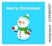 funny cartoon snowman drink hot ...   Shutterstock .eps vector #1159389337