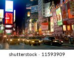 fifht avenue by night in new... | Shutterstock . vector #11593909