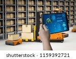 technician control 3d rendering ... | Shutterstock . vector #1159392721