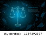 law concept with polygonal... | Shutterstock .eps vector #1159392937