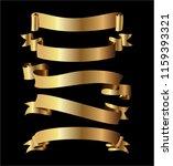 ribbon banner set.golden... | Shutterstock .eps vector #1159393321