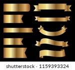 ribbon banner set.golden... | Shutterstock .eps vector #1159393324