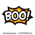 boo letters on comic text