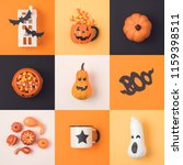 halloween holiday concept with... | Shutterstock . vector #1159398511