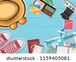 top view travel photography... | Shutterstock .eps vector #1159405081