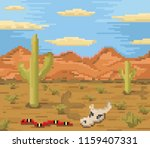 background of landscape with... | Shutterstock .eps vector #1159407331