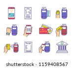 nfc payment color icons set.... | Shutterstock .eps vector #1159408567