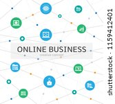 online business infographic... | Shutterstock .eps vector #1159412401