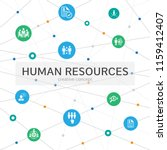 human resources infographic... | Shutterstock .eps vector #1159412407
