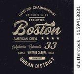 boston typography.vector... | Shutterstock .eps vector #1159413031
