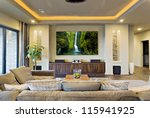 in home theater in luxury home | Shutterstock . vector #115941925