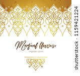 vector set of golden seamless... | Shutterstock .eps vector #1159421224