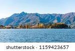 colorful autumn season at lake... | Shutterstock . vector #1159423657