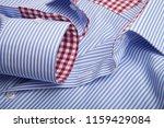 sleeve of a luxury shirt. close ... | Shutterstock . vector #1159429084