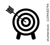 target icon. arrow hitting a... | Shutterstock .eps vector #1159430794