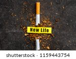 treatment of nicotine addiction.... | Shutterstock . vector #1159443754