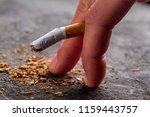 harm of smoking  development of ... | Shutterstock . vector #1159443757