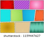 comic book page concept with... | Shutterstock .eps vector #1159447627