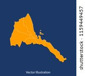 eritrea map   high detailed... | Shutterstock .eps vector #1159449457
