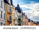 multicolored facades of... | Shutterstock . vector #1159452121