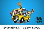 animal herd back to school with ... | Shutterstock .eps vector #1159452907