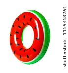 Bright Inflatable Ring On Whit...
