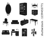 furniture and interior black... | Shutterstock .eps vector #1159453771