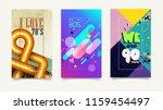 minimal retro covers design.... | Shutterstock .eps vector #1159454497