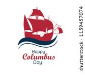 happy columbus day national usa ... | Shutterstock .eps vector #1159457074