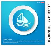 boat icon abstract blue web...