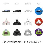 black cadillac to transport the ... | Shutterstock .eps vector #1159466227