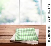 tablecloth  napkin on wooden... | Shutterstock . vector #1159467541