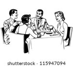 Couples Dining   Retro Clipart...