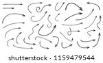 set of vector curved arrows... | Shutterstock .eps vector #1159479544