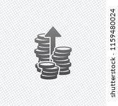 coins stack  finance grow  up...   Shutterstock .eps vector #1159480024