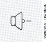volume minus icon. on grid... | Shutterstock .eps vector #1159480087