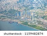 aerial view of skyscrapers in... | Shutterstock . vector #1159482874