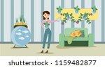 growing indoor plants and...   Shutterstock .eps vector #1159482877