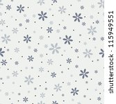 Stock vector seamless pattern with beautiful gray flowers vector 115949551