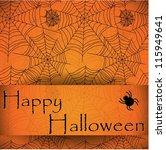 spider's web. orange vector... | Shutterstock .eps vector #115949641