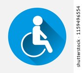 vector illustration wheelchair...   Shutterstock .eps vector #1159496554