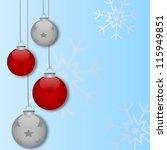 xmas flyer | Shutterstock .eps vector #115949851