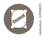 cement icon in badge style. one ...