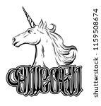 unicorn. vector handwritten...   Shutterstock .eps vector #1159508674
